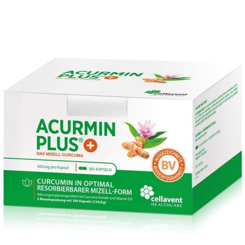 Kurkuma Kapseln Acurmin PLUS Cellavent Healthcare