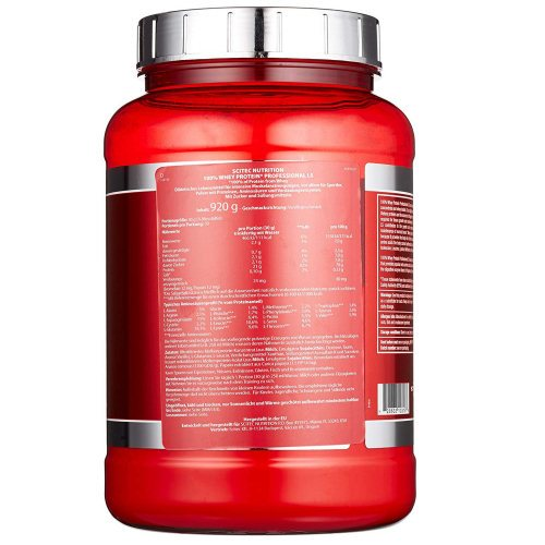 Scitec Nutrition Whey Protein Professional LS Verpackung Rueckseite